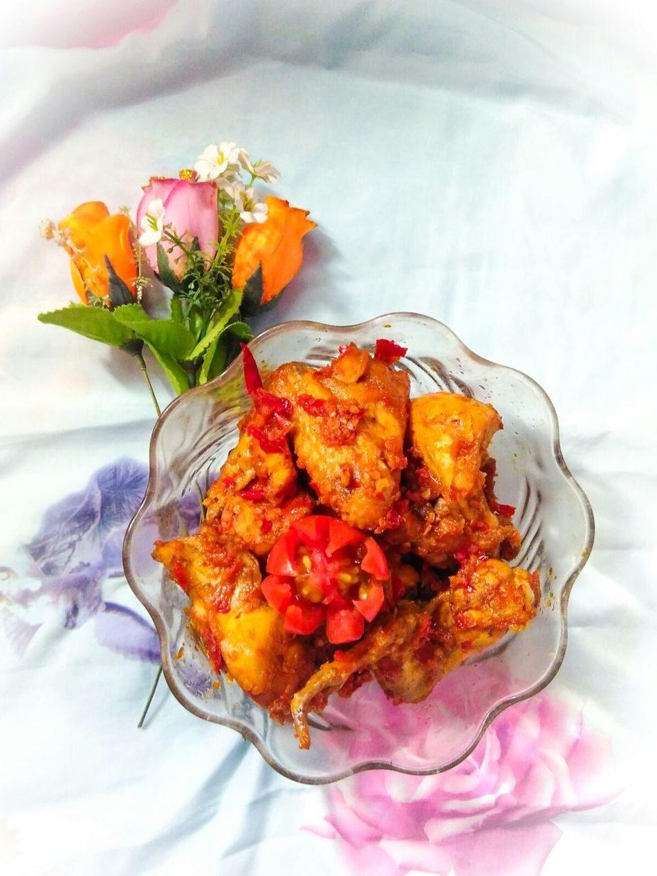 Chicken balado uhahh ala dedew 😘😘 Redmi2 Kamerahpgue Enjoying Life Well  Masak Cooking At Home Chickenbalado