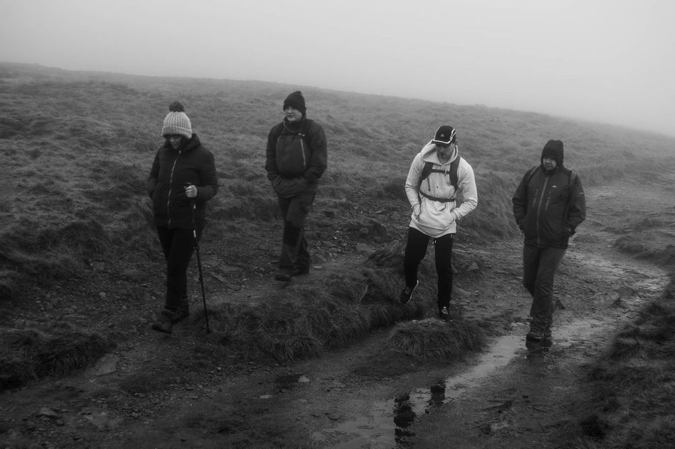 Adult Adults Only Day Friendship Full Length Hiking Landscape Leisure Activity Men Mountain Nature Outdoor Pursuit Outdoors Pen-y-ghent People Sky Small Group Of People Three Peaks Yorkshire Dales Yorkshire Three Peaks Young Adult Young Women