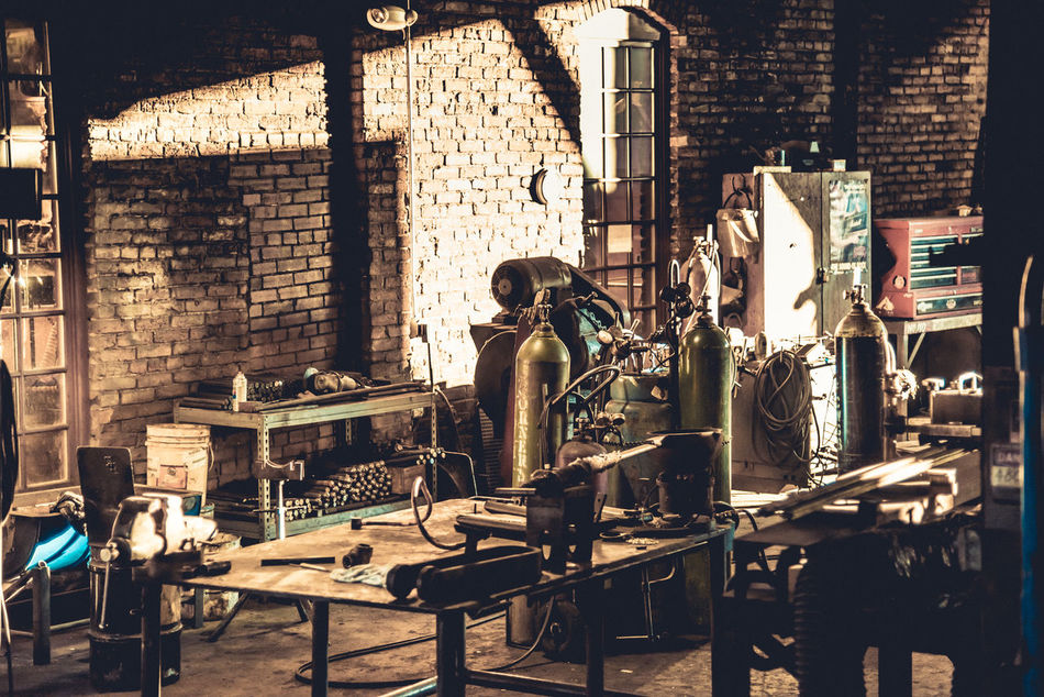 Backgrounds Brick Brick Building Brick Wall Day Indoors  Industrial Industrial Photography Industry Mechanic Old Buildings Old-fashioned Sunlight Sunlight And Shadow Wokring Hard Work Work Bench Working Working Hard