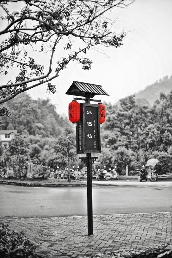 Red lanterns Red Road Street Red Shots Frist Time On EyeEm HuBei Blackandwhite