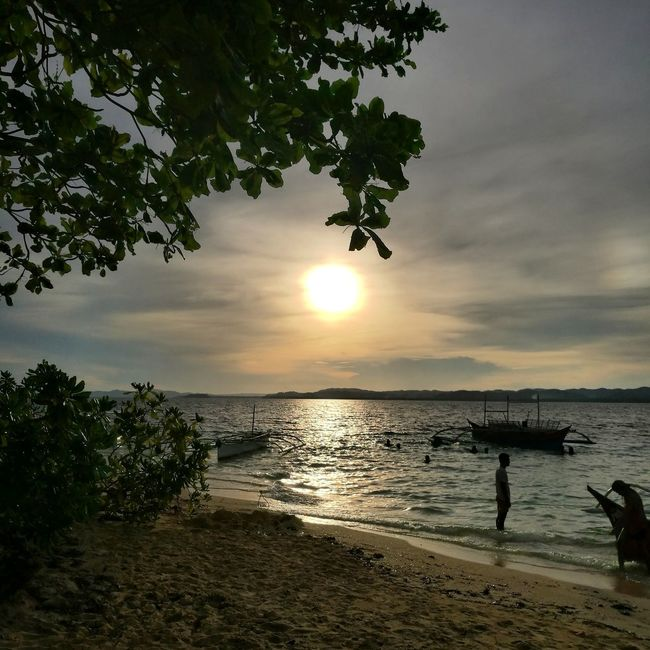 Sunset in Siargao. Travel Nature Inspire Beach Explore Adventure Wanderlust