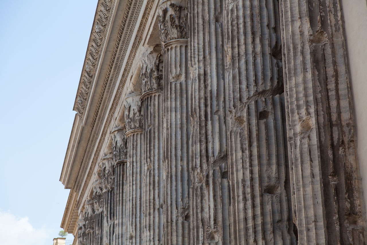 Roman Architecture Ancient Architectural Detail Architecture Building Exterior Cathedral Church City Day Façade Famous Place Hisctoric Historical Building History Italy Pillars Rome Sky Travel Destinations