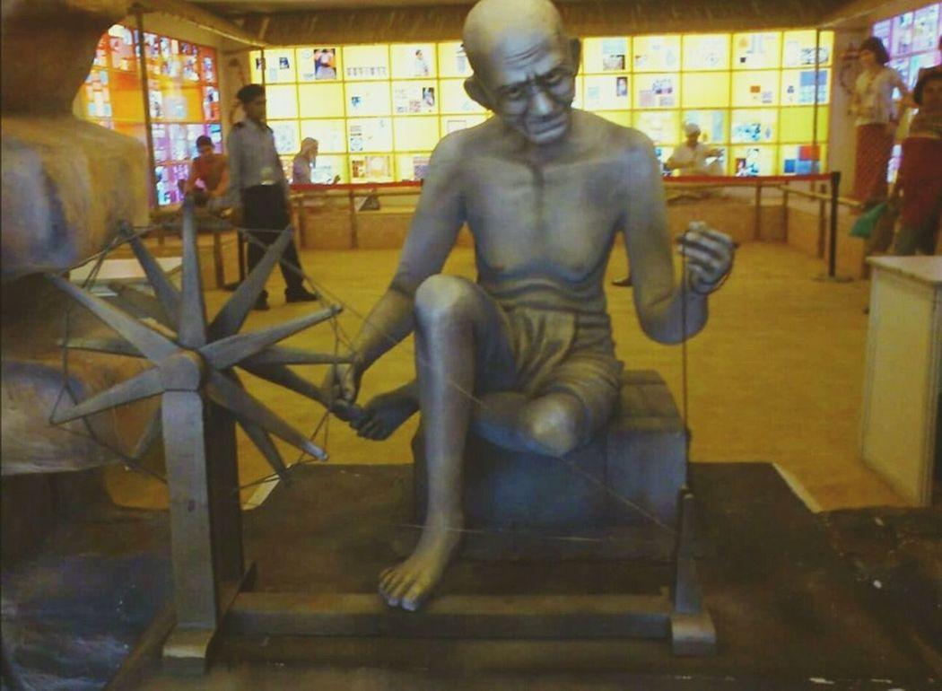 Be the change you want to see in the world- Mahatma Gandhi Randomshot Gandhiji Still Photography Eyemgallery Statue Indiagram