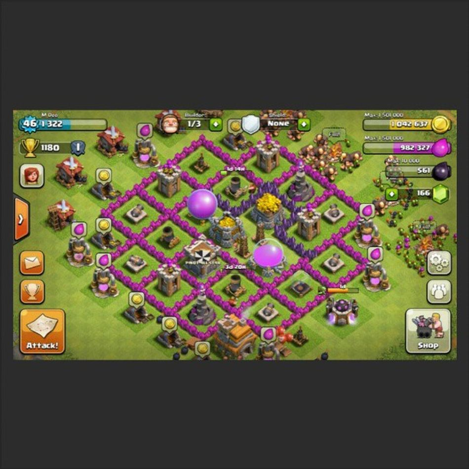 Building my purple walls and mortars. TownHallLvl7 Clashofclans