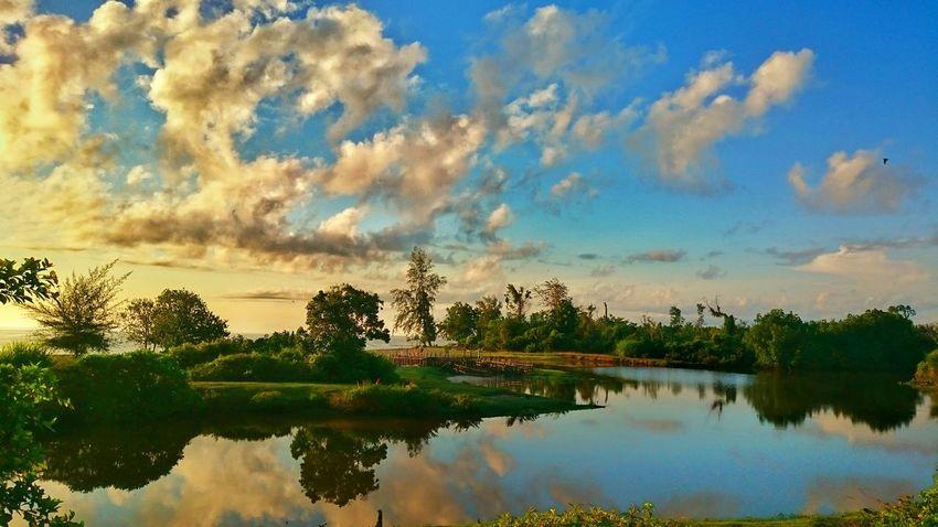 Reflection Water Reflections Southaceh Aceh Photooftheday Landscape Landscape_photography Sunrise_sunsets_aroundworld Zemiphoto