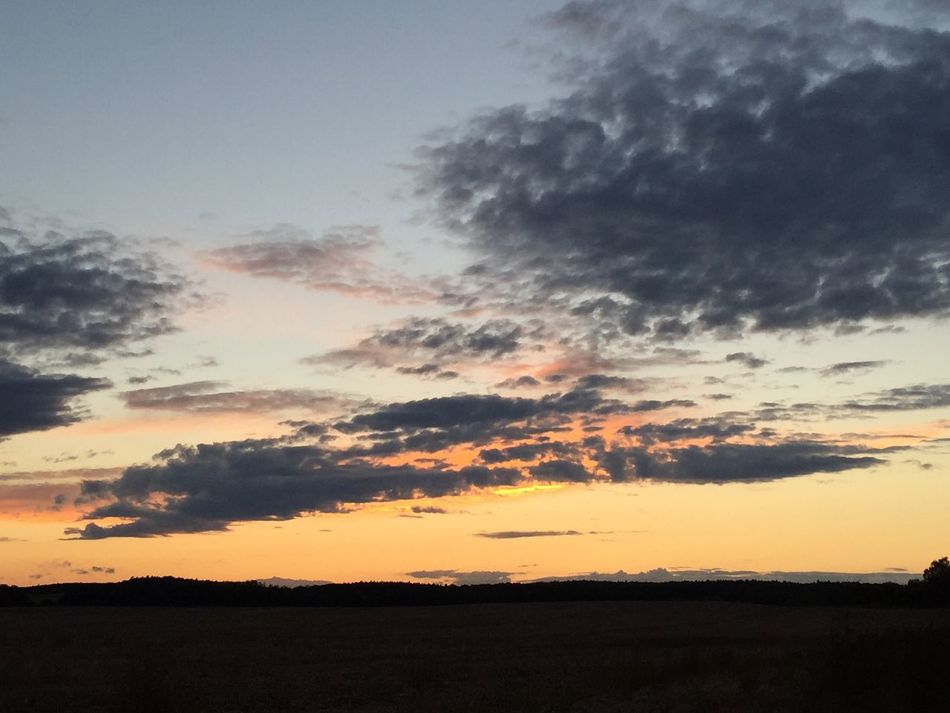 Abendhimmel bei Reichenberg ... Märkische Schweiz Natur Himmel Wolken