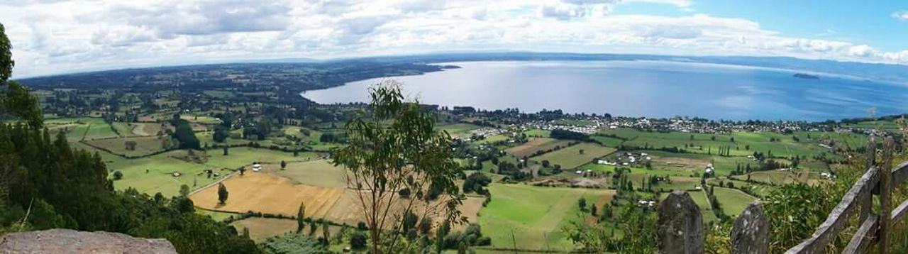Nature Growth Agriculture Landscape Scenics Beauty In Nature Aerial View Water Coastline Day No People Outdoors Tree Sky Lake District Chilepaisajes South Of Chile