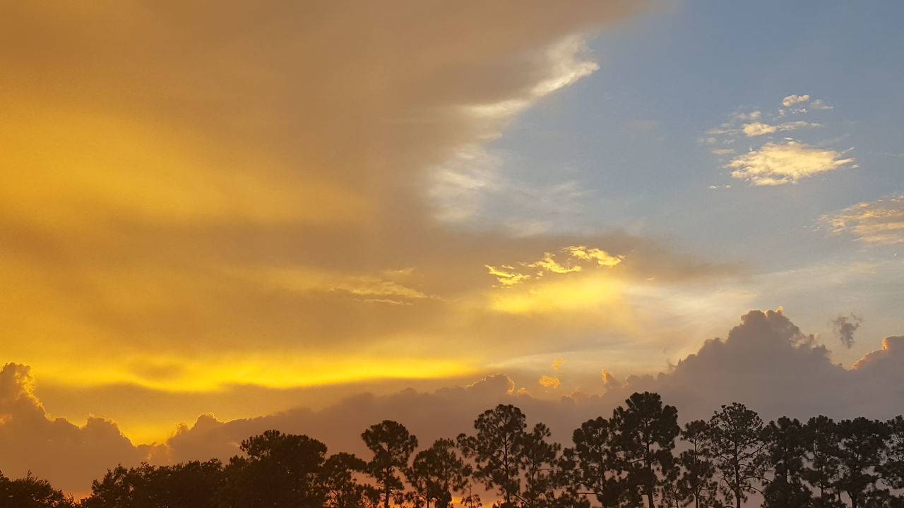 Shine on forever, shine on benevolent sun. Evening Warm Colors Sky Orange Hue