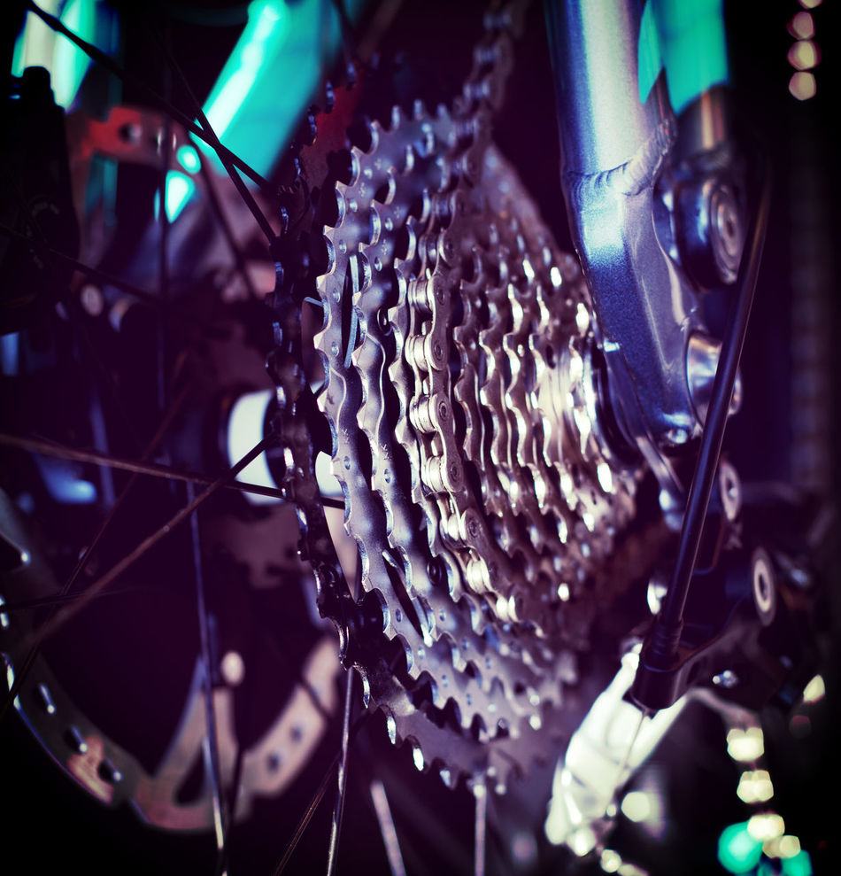 Gear change detail at bike Bicycle Chain Bike Bike Chain Cycling Detail Gear Box Gear Change Gear Shift Macro