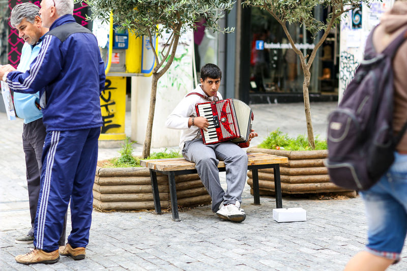 Accordion Athens Beggar Busker Greece Greek Outdoors Squashbox Street Street Photography Streetphotography Travel
