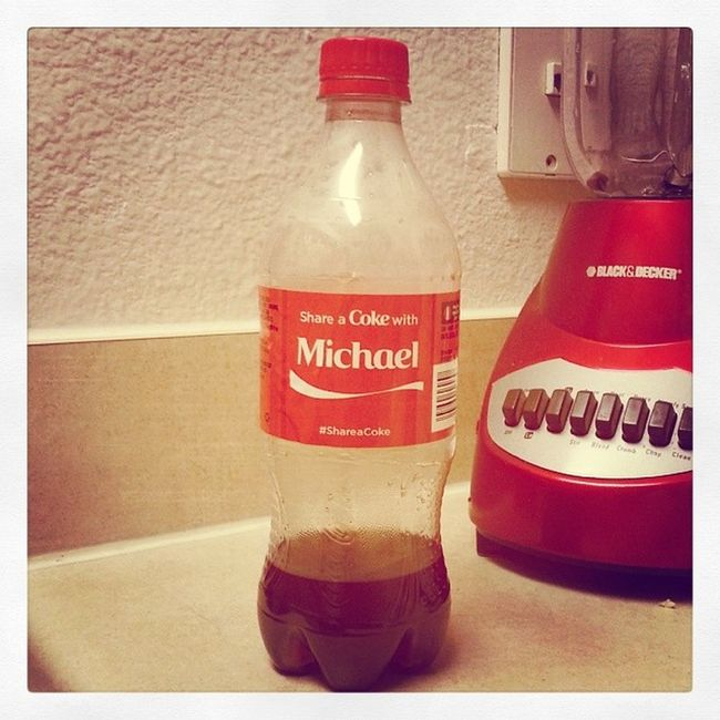 """While everyone is frantically searching for their little piece of """"Coke Heaven"""", one just pops out of a vending machine at work for Michael! Lucky Canyoupleasebuyusalottoticket Wecouldberichbiotch Idneverfindone Whyismynamenotjenniferorsarahorashley Becauseidontdrinkcoke Andimunique Nosodaupinmysystem Juiceandwatergirl Imalittleinmyfeelings Itreallyiscool"""