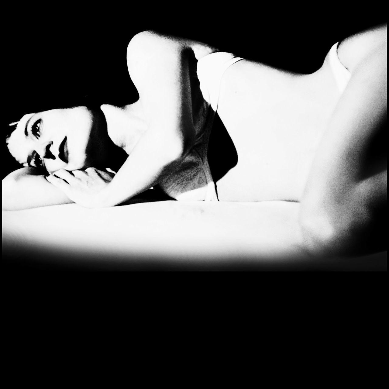 Allone  Allonetime Bed Bedroom Black Background Close-up Dark Part Of Sadness Vignette White