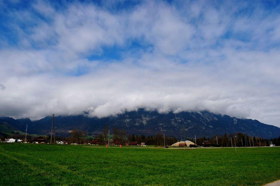 Mt.pilatus Covered With Clouds Cloudy Landscape Outdoors Nature Blue Moments EyeEm Best Shots Collections Eye4photography  Eyemphotography Eyemoments Eyemphotos Swiss Alps Switzerland