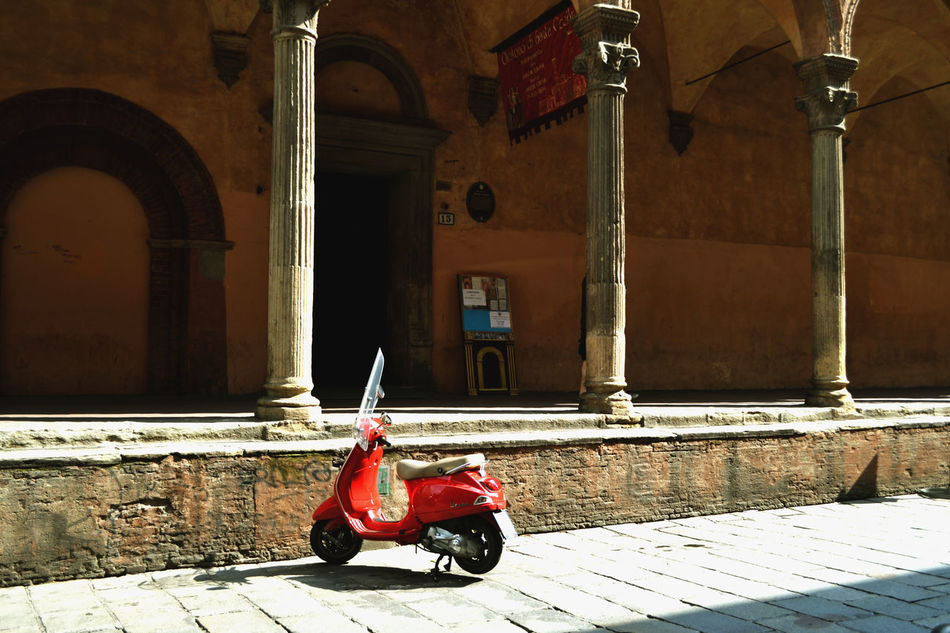 Architectural Column Building City Day EyeEm Best Shots From My Point Of View Lifestyles Red Bike Streetphotography Vespa Greetings From Italy