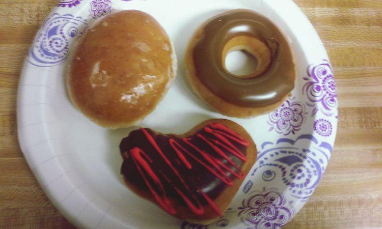 KrispyKreme Donuts Krispy Kreme Dounuts Smile :) Donuts🍩 Krispy Kreme ♥ Krispy Kreme Heart Yummy! Yummy♡ Junk Food