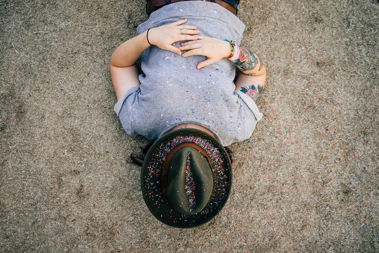 After party. Celebration Directly Above Girl Hat High Angle View Indie Real People Sleeping Women My Best Photo 2015