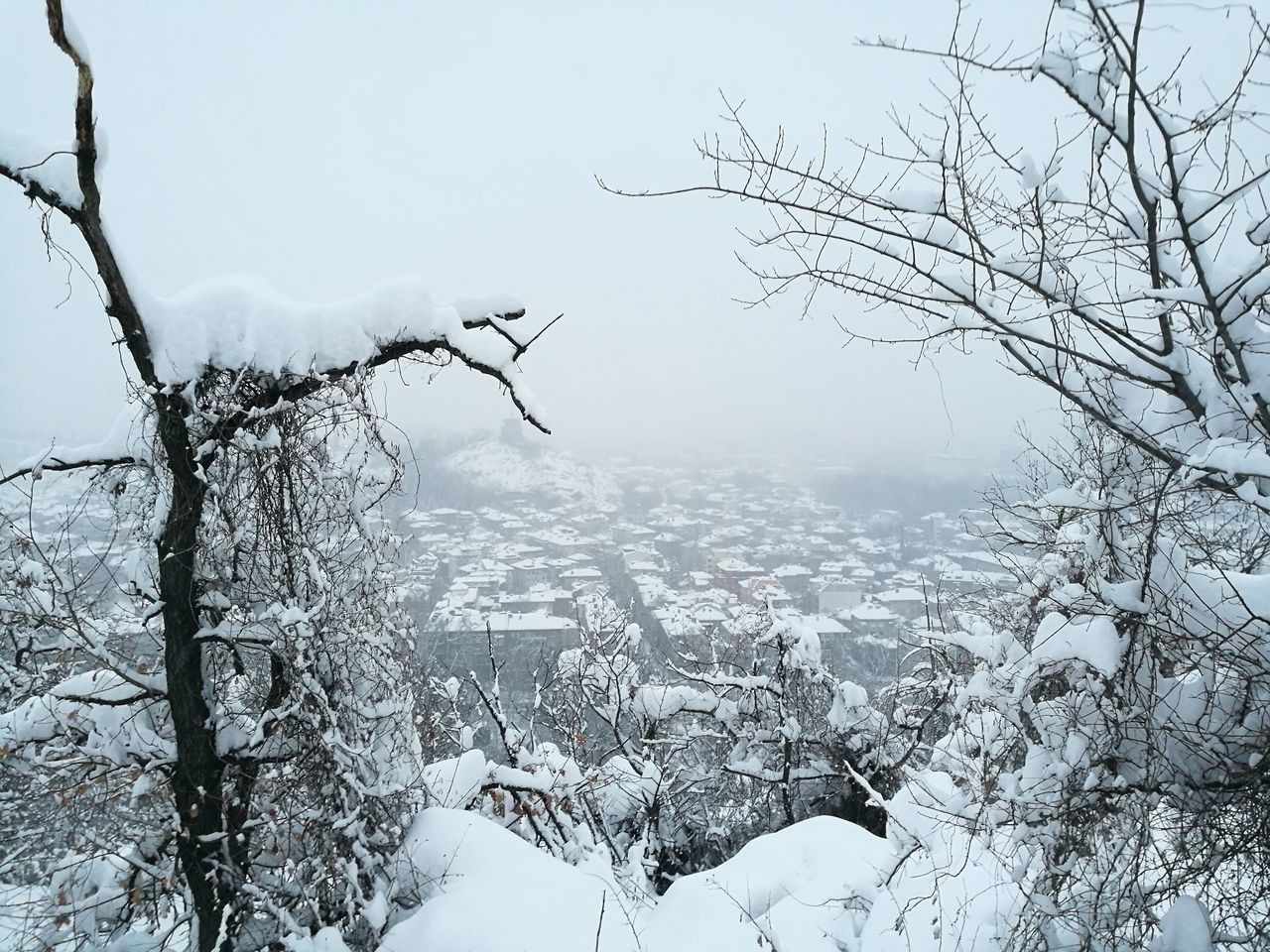The view of Plovdiv from atop Bunardzhika - Sky Outdoors Nature City Cityscape Leica P9 Leicap9 Leica Lens Leica Leica Photography фотография Snow ❄ Journey Nature Snow Winter Huawei P9 Leica Urban Skyline Snowing Travel Destinations Leicacamera White пловдив снег Hill