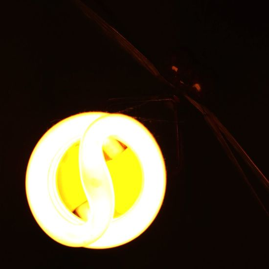 Yin yang Black Background No People Indoors  Close-up Yellow Illuminated Spiral Technology Lighting Equipment Electricity  AI Now AI Now