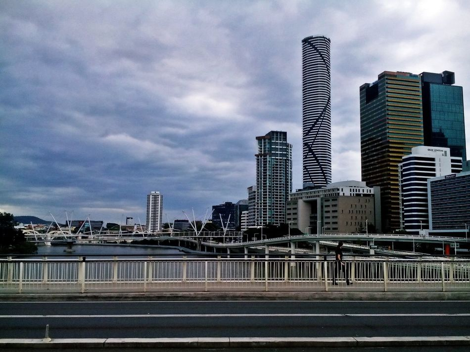 Architecture Australia Australia & Travel Brisbane Brisbane River Building Exterior Built Structure City Cloud - Sky Clouds And Sky Cloudy Day Cloudy Sky Day Inner City Modern No People On The Bridge Outdoors Sky Skyscraper Urban Skyline Adapted To The City