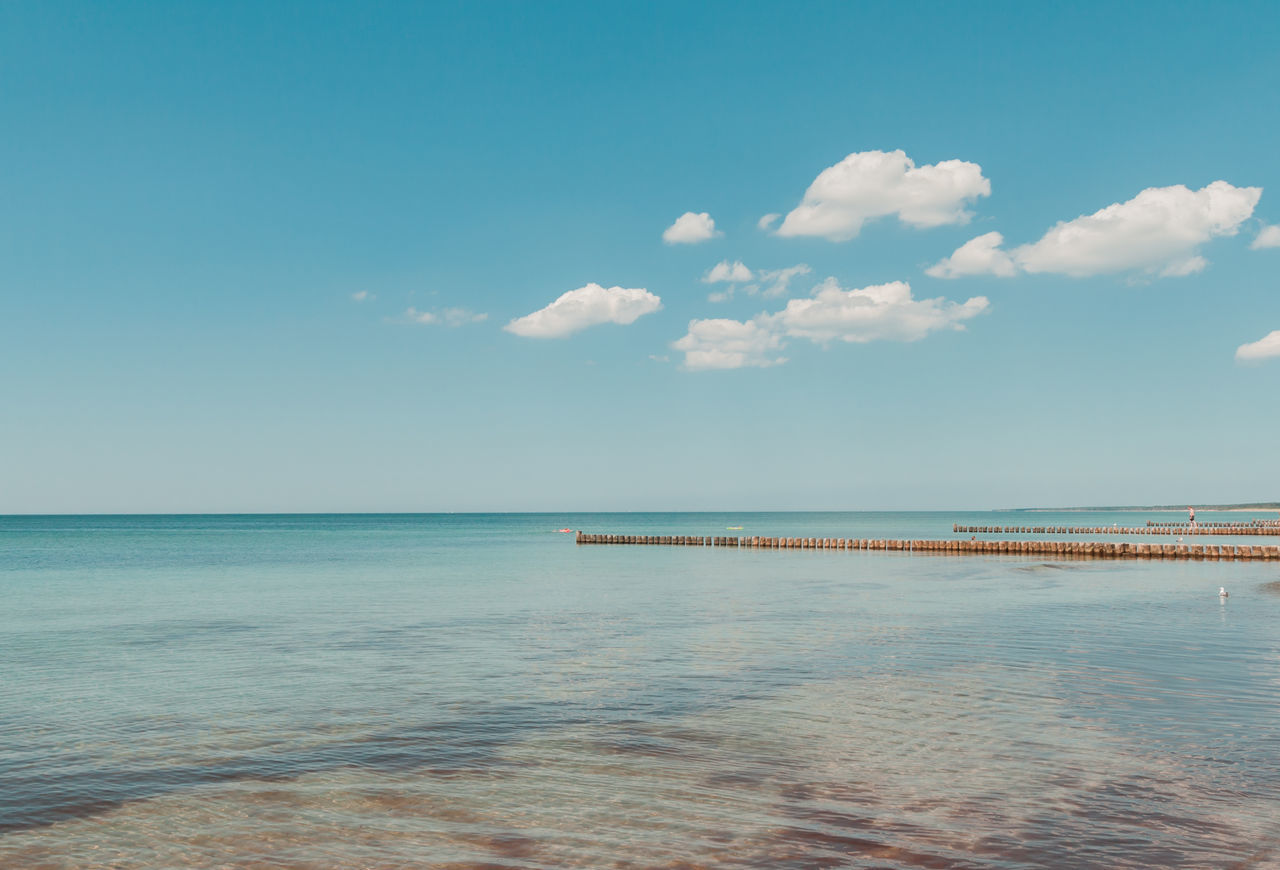 Baltic Sea Baltic Sea Beauty In Nature Blue Bühne Cloud - Sky Day Fischland Fischland-darß-zingst Horizon Over Water Nature No People Ostsee Outdoors Scenics Sea Sky Tranquil Scene Tranquility Water