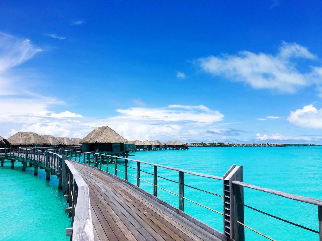 Beautiful stock photos of bora bora, Beauty In Nature, Bora Bora, Bungalow, Day