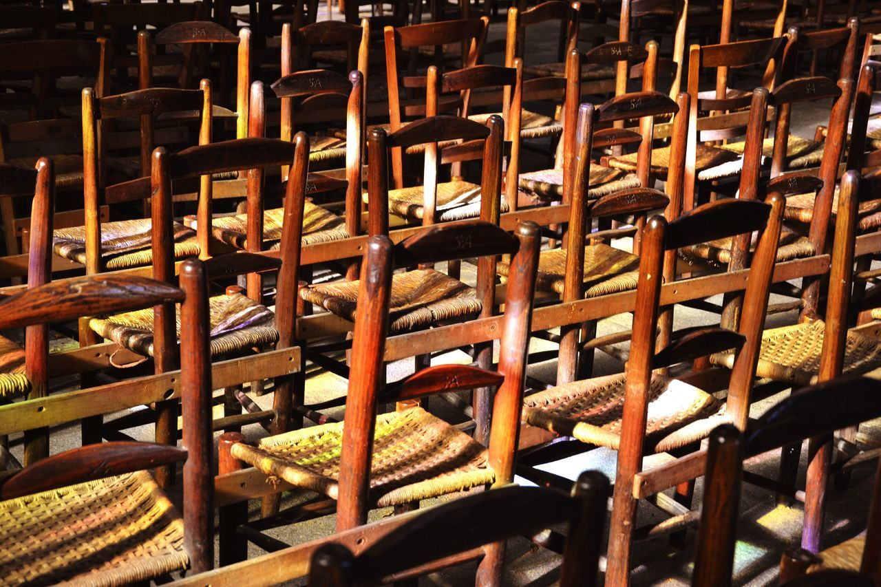 Chairs Church Lights Large Group Of Objects No People Indoors  Full Frame Food Close-up Day Stick
