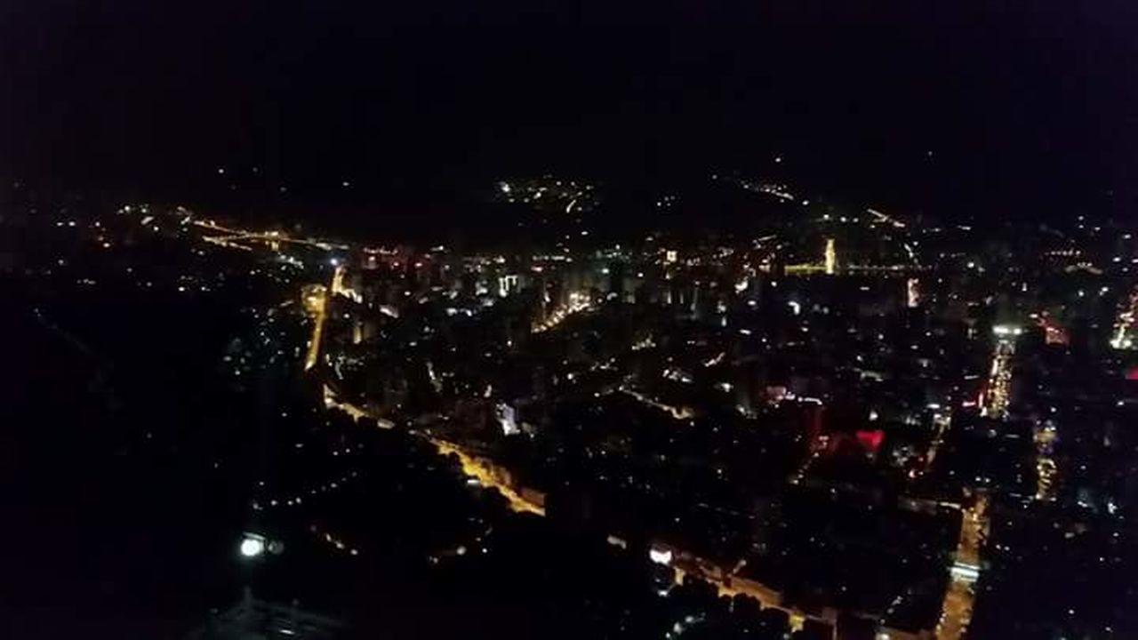 night, cityscape, city, illuminated, skyscraper, no people, star - space, outdoors, sky