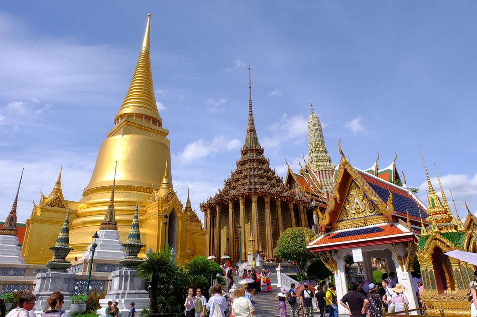 Wat Phra Kaeo temple , landmark of Thailand Ancient Architecture Art Building History Landmark Old Pagoda People Religion Royal Royal Palace Temple Thai Architecture Thai Art Tourism Tourist Travel Wat Phra Kaeo