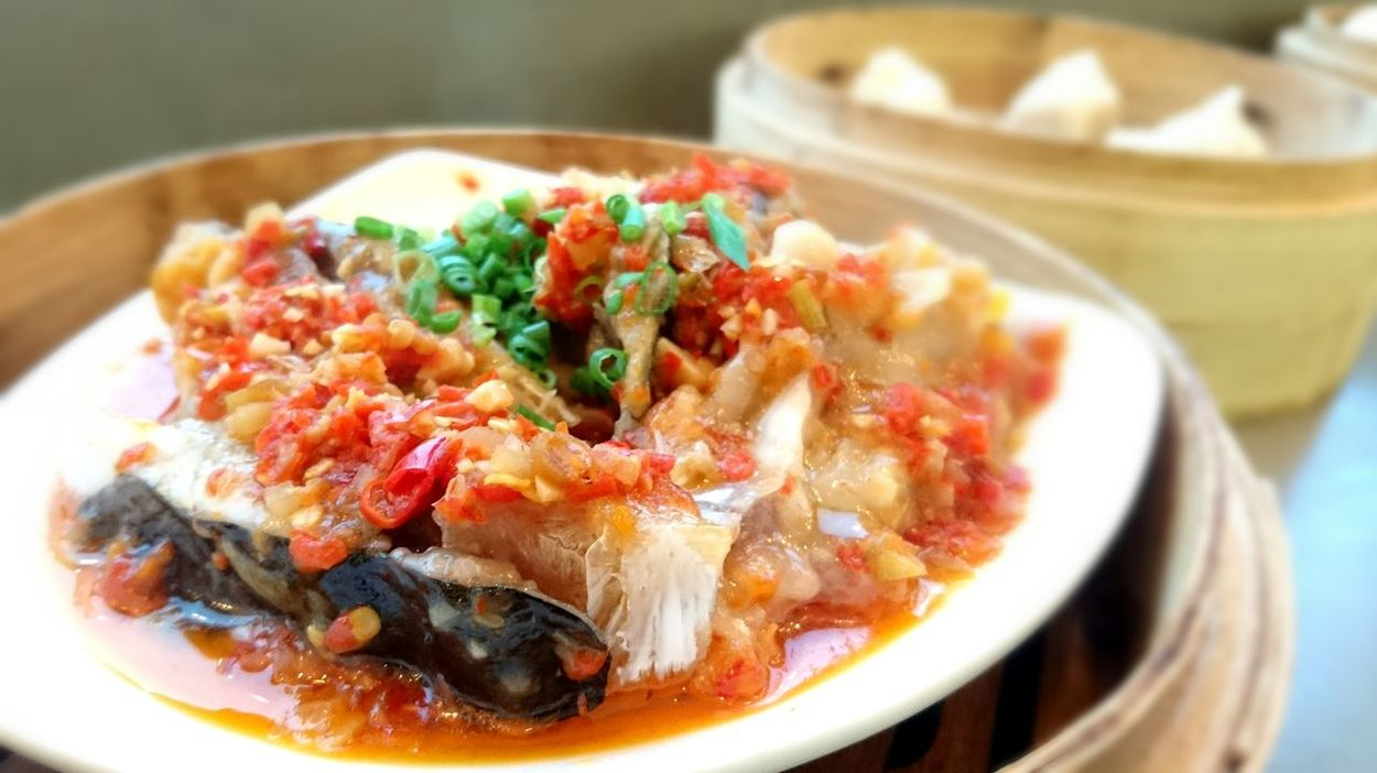 Dish Food Fish Head Chilli Steam Food Dim Sum Eyeem Market EyeEm Gallery Delicious Grateful Chinese Dish Chinese Food Cantonese Style Food Photography Food Art EyeEm Best Edits Showcase April Mouth Watering Hong Kong Menu Dinner Main Dish Cooking Plating Lunch