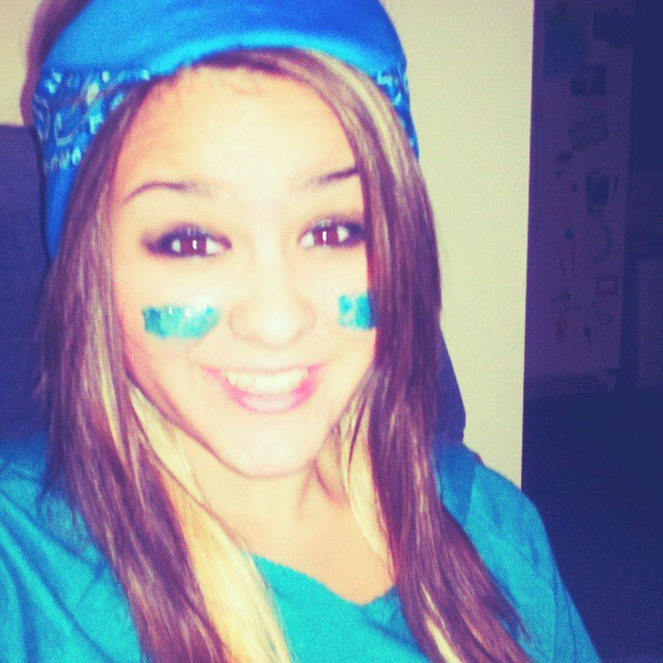 Class competition …♥(: Sophmore Class Color Blue facepaint love funday argue