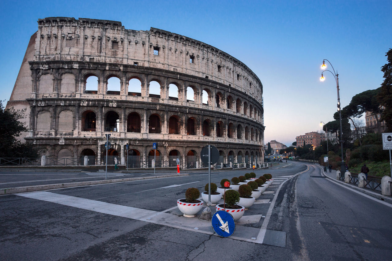 Architecture Building Exterior Colloseo Colloseum Day Empty Empty Road Explore History Italy Morning Old Ruin Rome Italy Travel Travel Travel Destinations Uncrowded