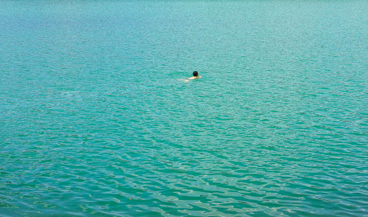 Beauty In Nature Day From My Point Of View Minimalism Nature One Person Outdoors Scenics Swimming Water The Great Outdoors - 2017 EyeEm Awards Live For The Story