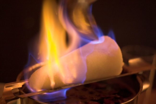 Burning Close-up Feuerzangenbowle Fire Flame Gas Heat - Temperature Horizontal Indoors  No People Sugarloaf Zuckerhut