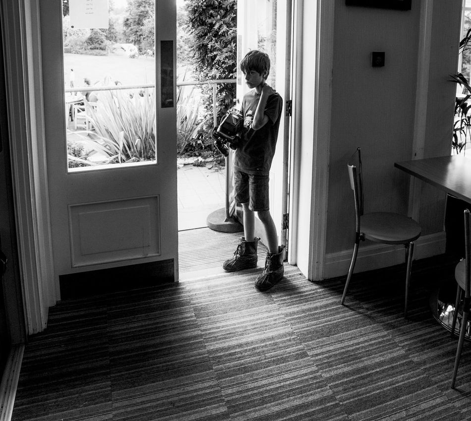 Tank boy - or the boy with large boots and a remote controlled car at the Botanical Gardens in Birmingham who looks like he could have been drawn by Jamey Hewlett Kids Being Kids Playing Games Comic Book Character B&w Black And White People One Person Natural Light Portrait Wide Angle