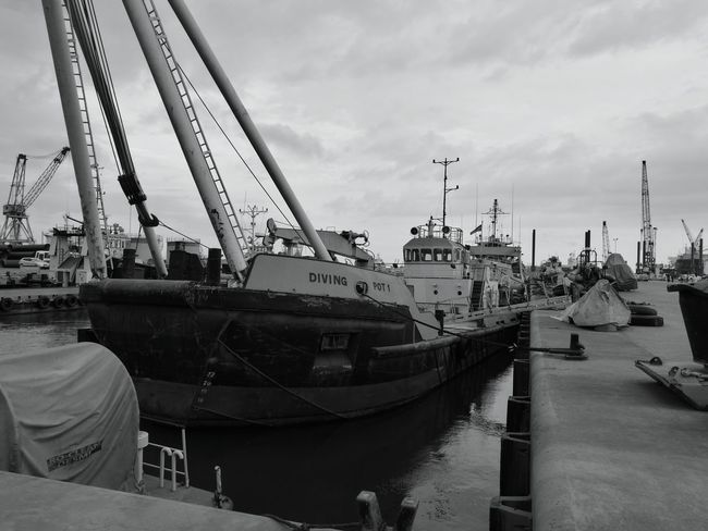 Tema Harbour Commercial Dock Boat Harbor Water Ship First Eyeem Photo