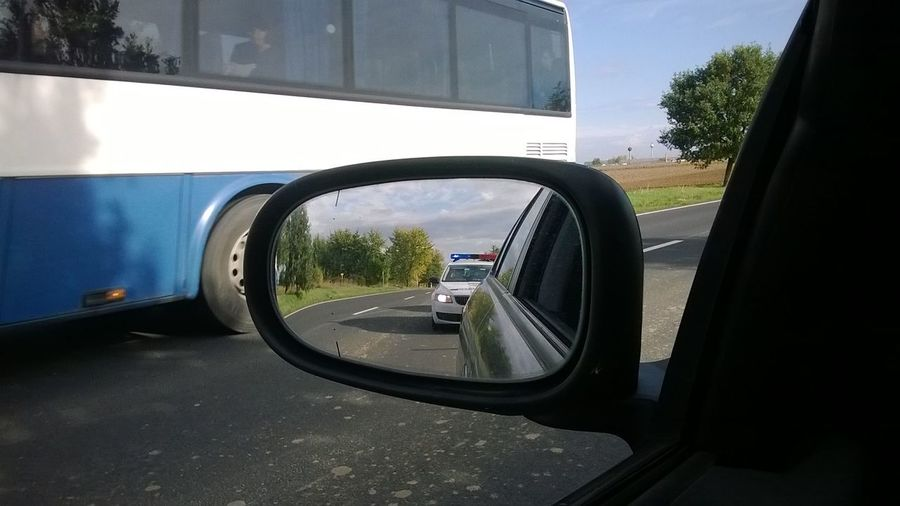Car Outdoors Police Car Road Side-view Mirror
