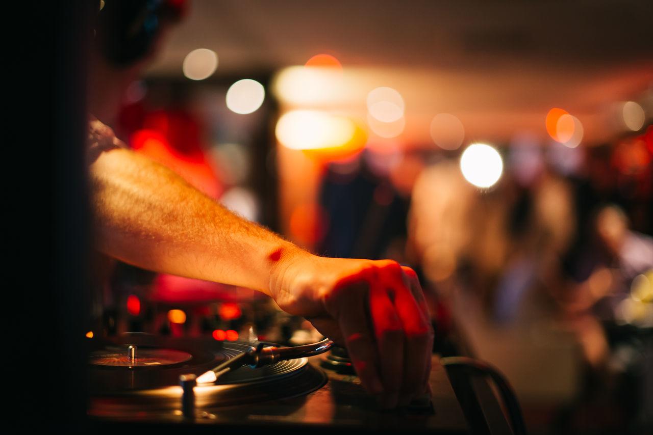 Music Background DJ Night Club Deejay Vintage Record Player Retro Backgrounds Club Discoteca Discotheque Dj Hand Knob Music Night Party Play Player Records Retro Retro Styled