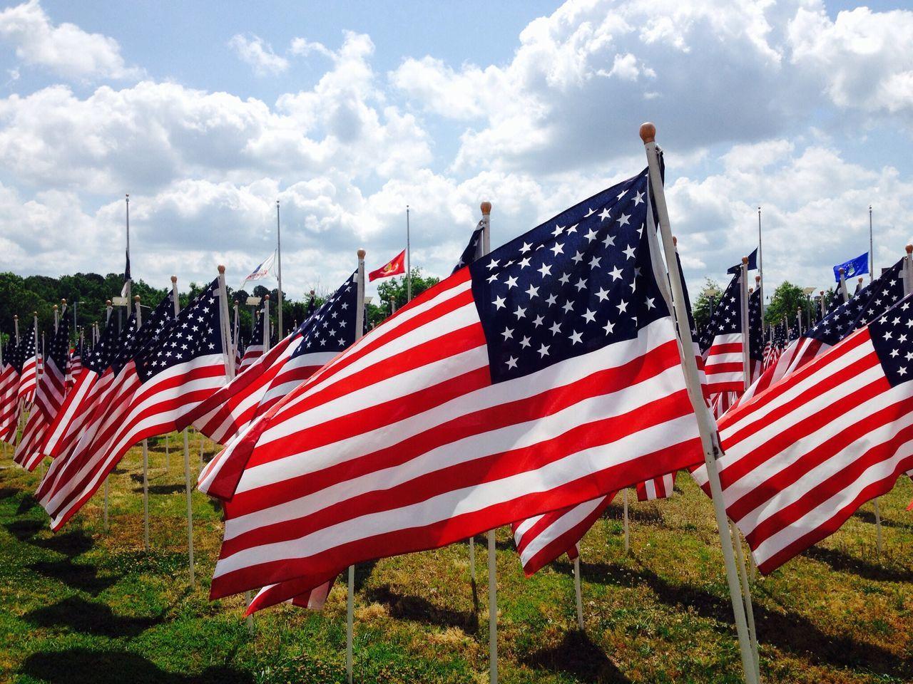 Beautiful stock photos of american flag, Abundance, American Flag, Cloud, Day