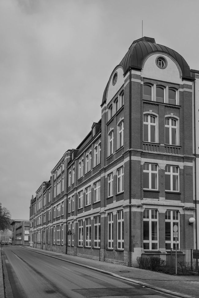 Perspektive in Aue Architecture Aue Building Building Exterior City Life Cloudy Day Germany Historic Lines Perspective Street Tristesse Urban The Architect - 2016 EyeEm Awards