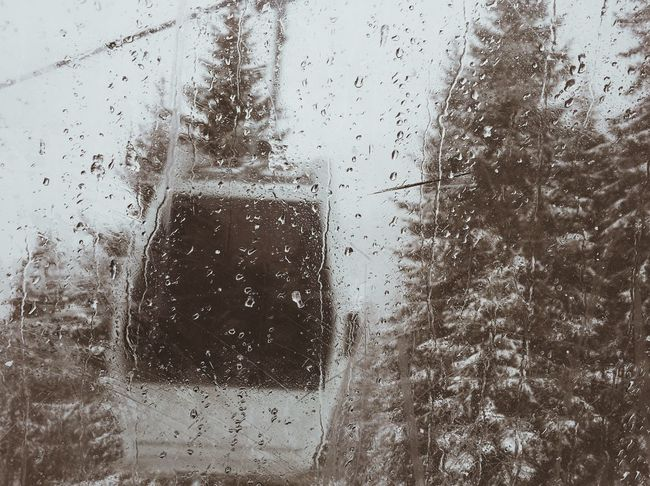 What a day Seilbahn Transparent Transportation Weather Snow Mountains VSCO Vscocam Rainy Season Nature Tree Southtyrol  Alps Photooftheday
