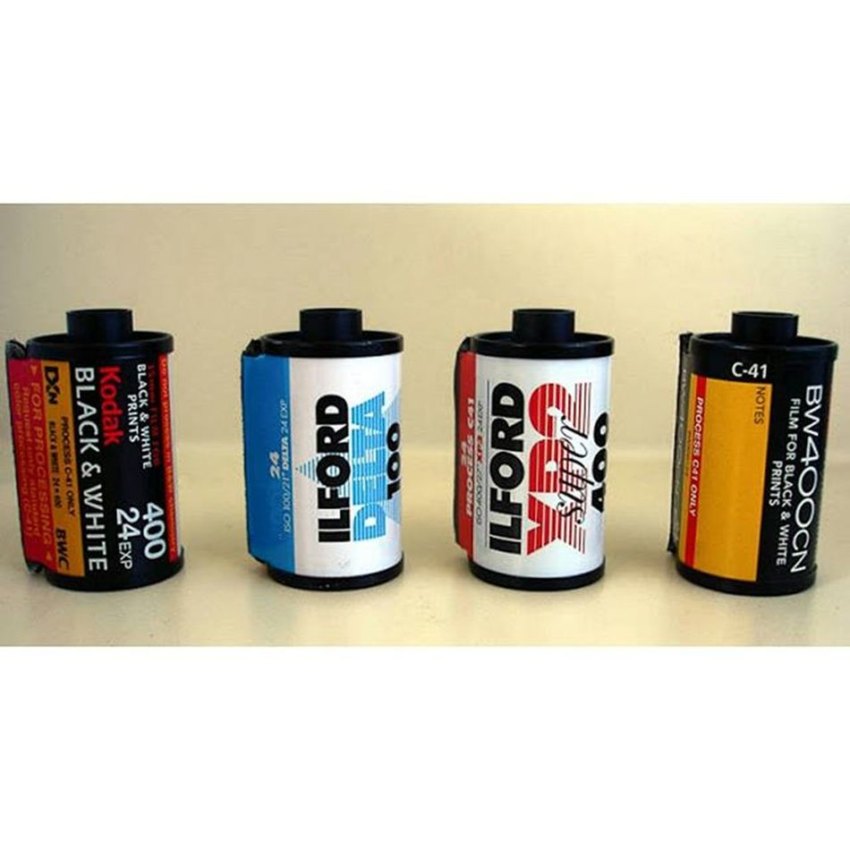 Take your pick! 35mm 35mmfilm 35mmfilmphotography Analog Film Ilfordfilm Ilfordxp2super Ilforddelta100 Kodak Bw400cn Kodakbw400