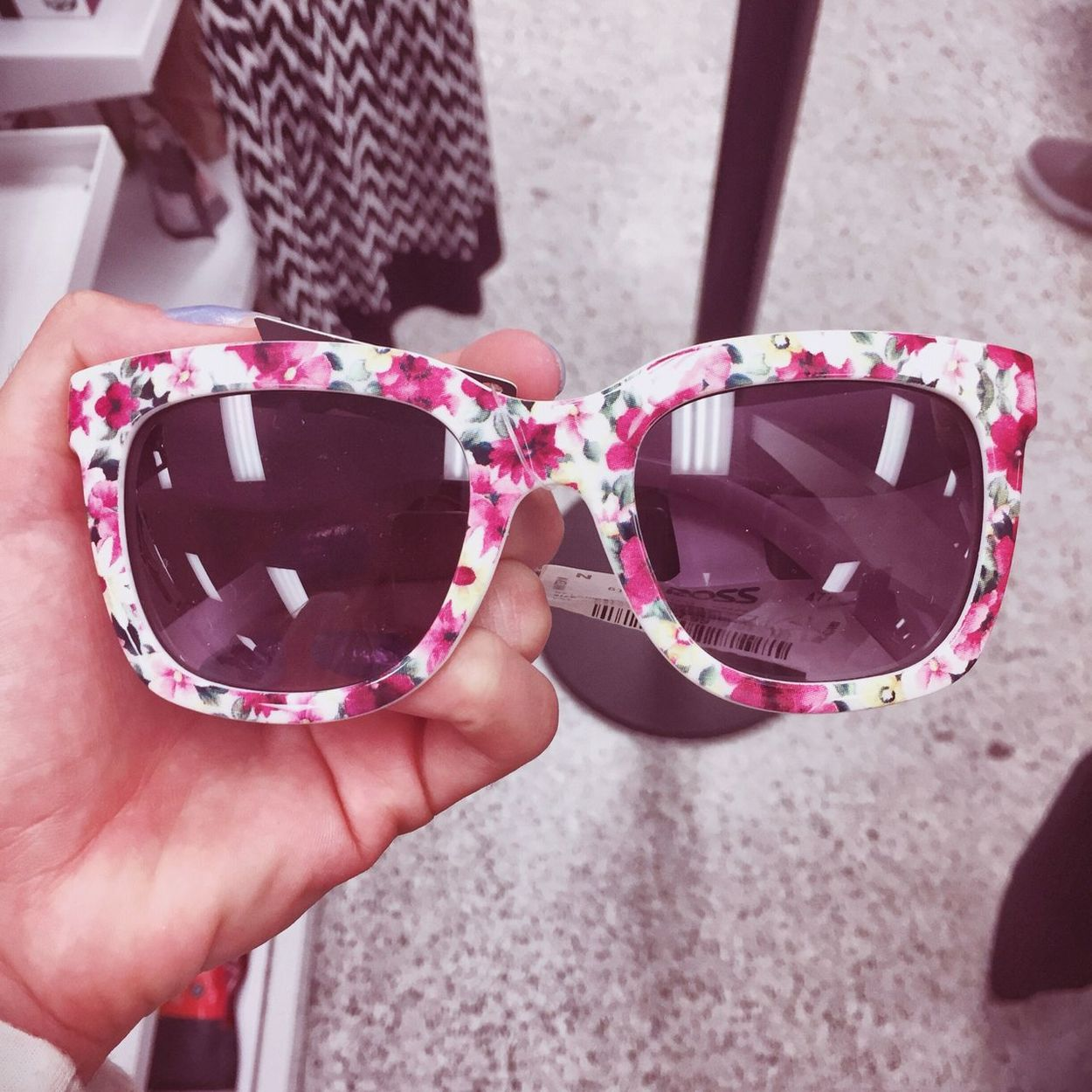 Sunglasses Pattern Flowers Floral Pink