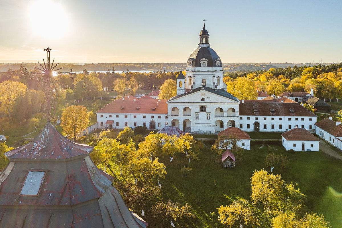Pažaislis Monastery, Aerial view Drone  Monastery Pazaislis Monastery Architecture Autumn Building Exterior Built Structure Day Mavic Mavic Pro Nature No People Outdoors Place Of Worship Religion Sky Spirituality Sunset Tree
