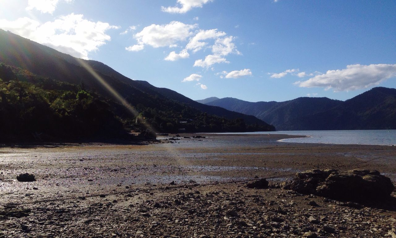 Nature On Your Doorstep Hello World Taking Photos Check This Out Sky Nature In All Its Glory Waterscape Water Reflections Miles Away On The Road At The End Of The World Magnificent Mountains Super Skyline Queen Charlotte Sound at Havelock