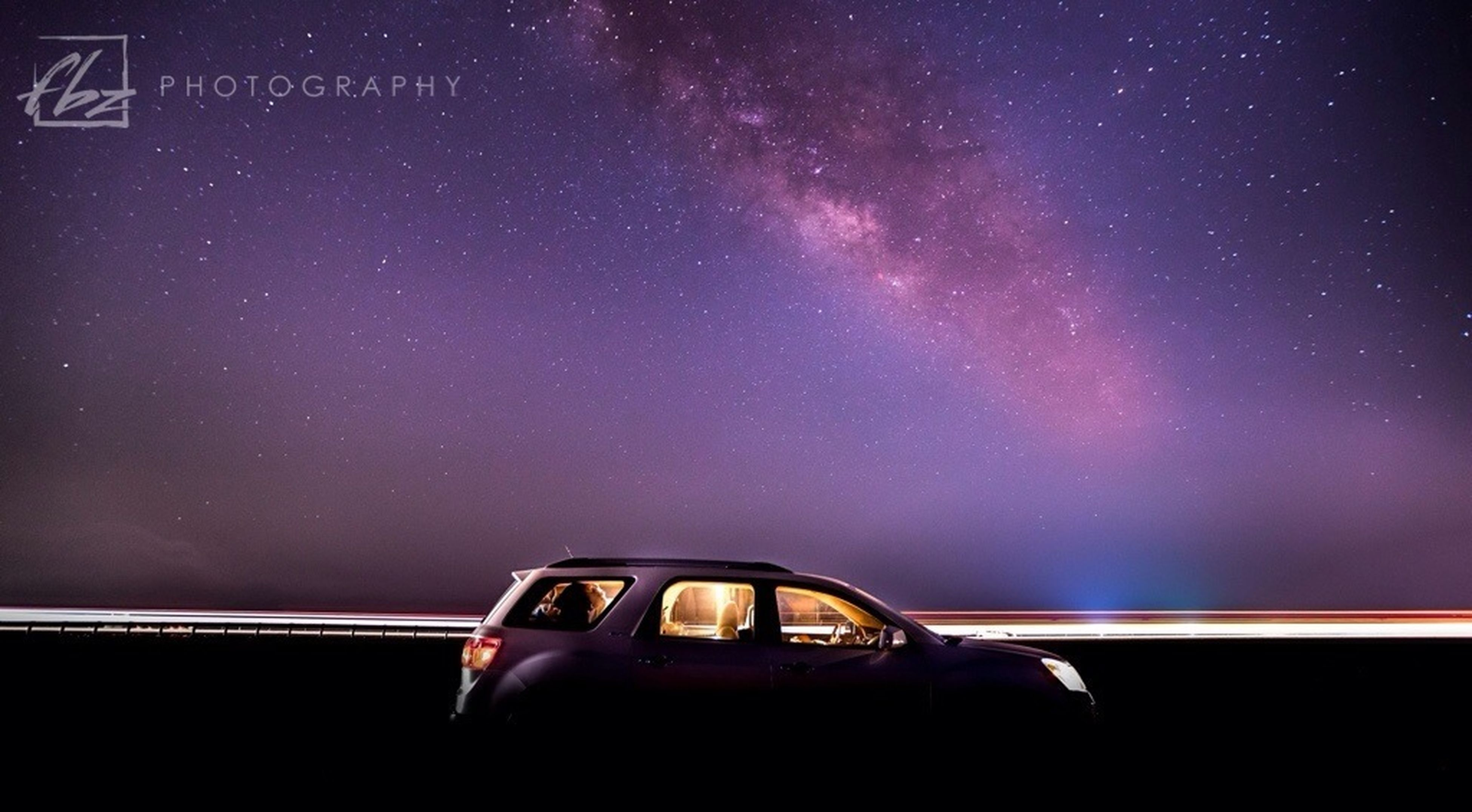 night, star - space, car, transportation, galaxy, nature, illuminated, sky, beauty in nature, scenics, astronomy, no people, milky way, constellation, outdoors