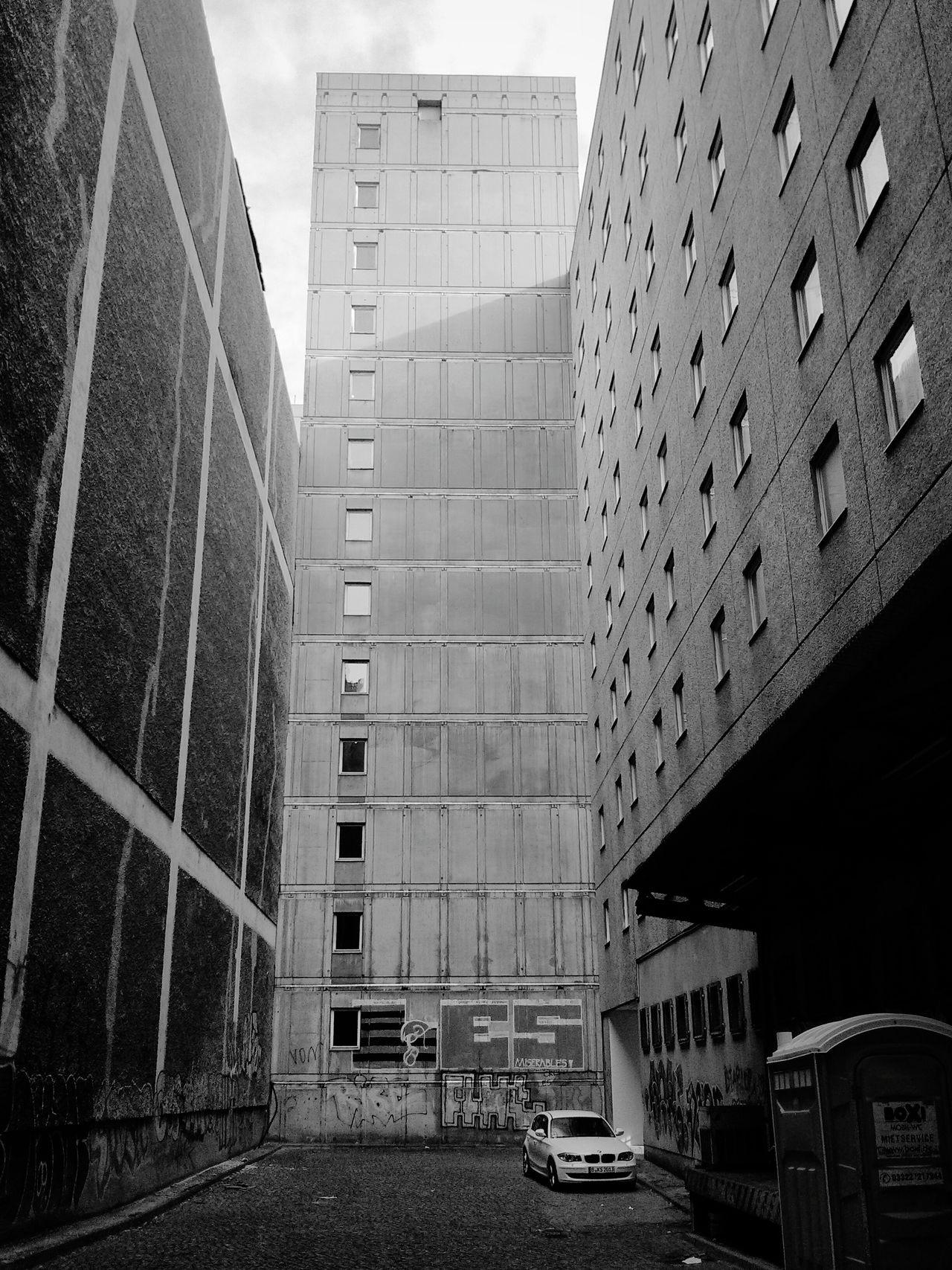 Shady Berlin Backyard . Light And Shadow Bmw Plattenbauromantik