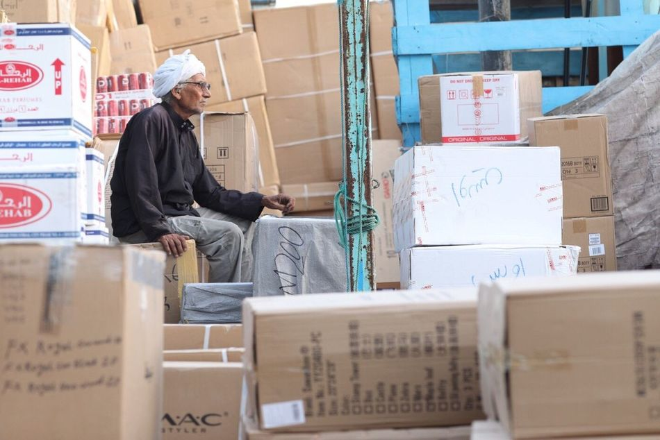 Warehouse Working Real People Cardboard Box Industry Freight Transportation Men Indoors  Occupation One Person One Man Only Manual Worker Adult Only Men Day People Adults Only