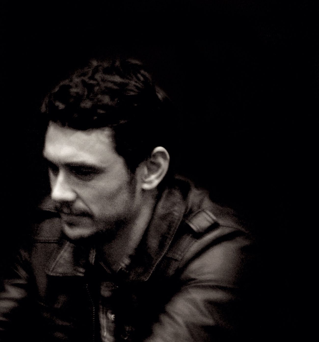 James Franco NYC Actor And Director Painter Writer Blackandwhite Grainy Is Cool Celebrity Portraiture Black Leather Canon G9