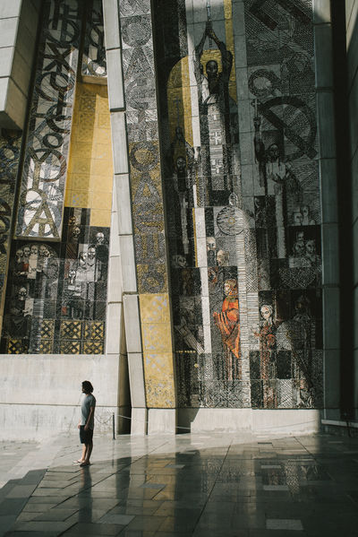 Lost In The Landscape Mosaic Nikon SHUMEN Tourist Tourist Attraction  Travel VSCO Architecture Building Exterior Built Structure Bulgaria Day Full Length Monument One Person Outdoors People Places Real People Structure