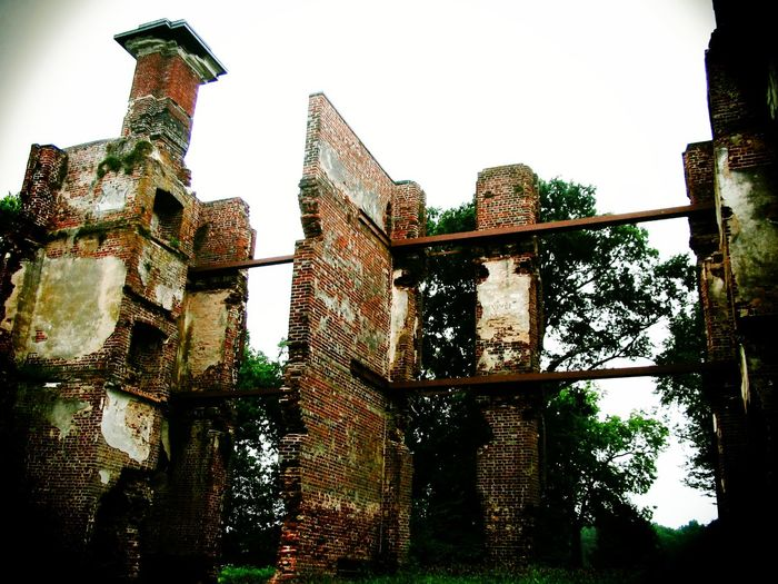The Ruins of Rosewell Architecture Built Structure Close-up Day Deterioration Historical Building Low Angle View Nature No People Old Outdoors Rosewell Mansion Ruin Sky